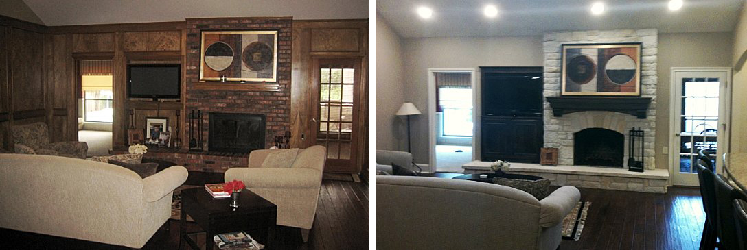interior design before and after photos | flower mound | kristy