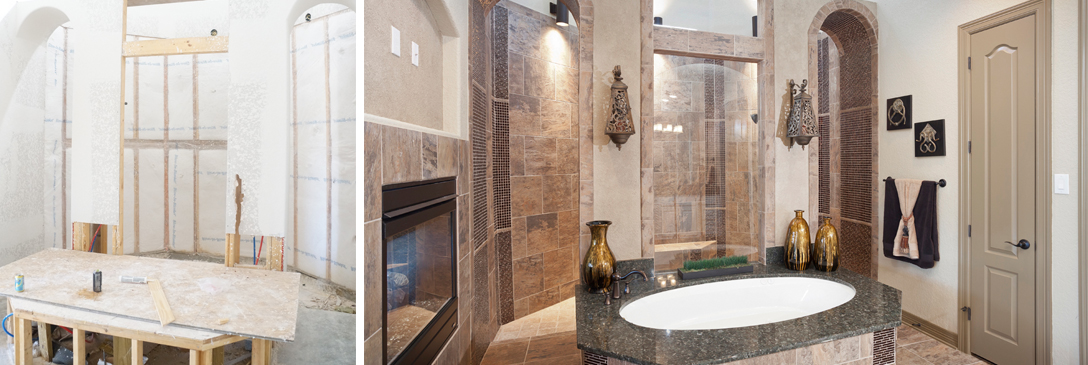 interior design before and after pictures, bathroom remodel, bathroom remodel, before and after remodel, english french country, transitional, rustic, new construction, color consulting, paint consulting, wall finishes, interior design texas