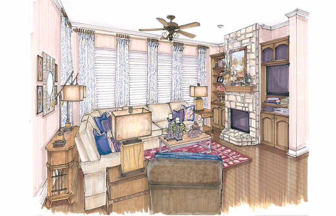 Interior Design Colored Renderings