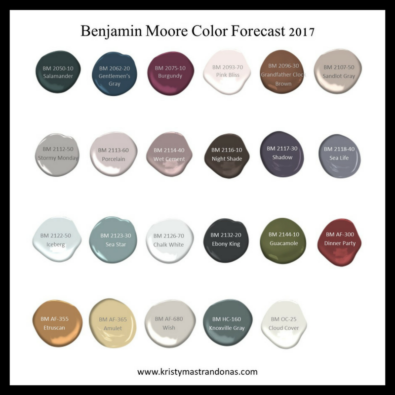 Benjamin Moore 2017 Colors 2017 Paint Color Forecasts